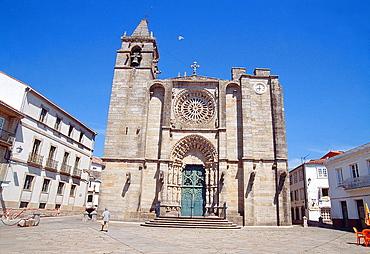 Facade of San Martino church. Noia, La Coruna province, Galicia, Spain.
