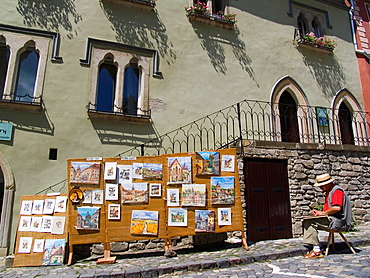 Europe, Romania, Transylvania, Sighisoara, Artist.