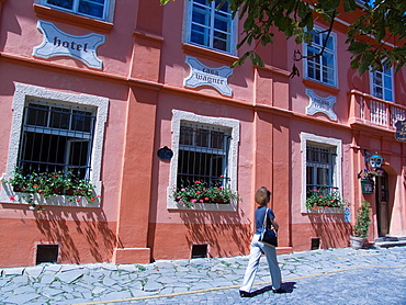 Europe, Romania, Transylvania, Sighisoara, Hotel Casa Wagner.