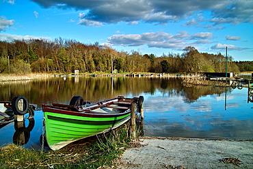 Mooring spot on Lough Ennell, Tudenham, County Westmeath, Ireland.