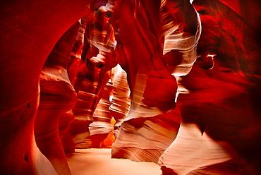 Antelope Canyon, Arizona, USA, eroded Sandstone Rock Formations.