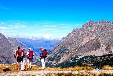 Border between France and Italy, Col de Lausfer, Alpes-Maritimes, Mercantour national park-Argentera, Provence-Alpes-Cote d'Azur, France