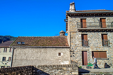 Rural architecture of Siresa village, Hecho Valley, Huesca, Spain.
