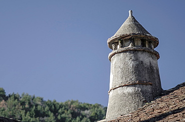 Rural architecture of Hecho village, Hecho Valley, Huesca, Spain.