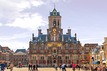 City hall, Delft, South Holland, Netherlands.