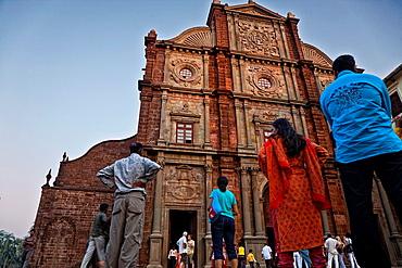 Bom Jesus Basilic In Old Goa. India.