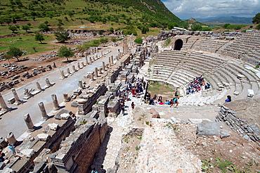 Roman theater, antique city of Ephesus, Efes, Turkey, Western Asia.