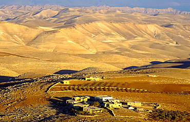 view at Westbank with village, Palestine, Israel