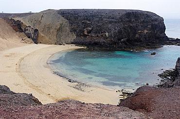 Beach of Papagayo. Lanzarote, Canary Islands, Spain