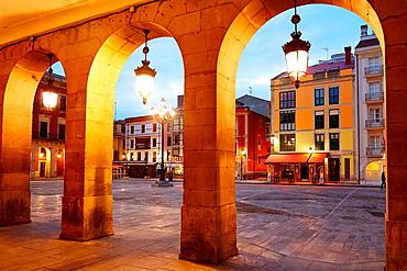 Main Square. Plaza Mayor, Gijon, Asturias, Spain.