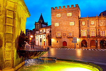 Revillagigedo Palace, Plaza del Marques, Gijon, Asturias, Spain.