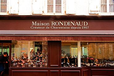 Charentaises' (sweepers) shop, at La Rochefoucauld, Charente, Poitou-Charentes, France
