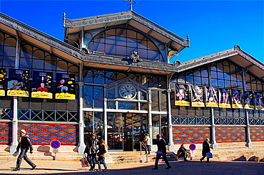 Les Halles' (19th century), the main market at Angouleme, Charente, Poitou-Charentes, France