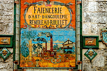 Faiencerie Renoleau Rouillet', famed ceramics factory of the beginning of the 20th century, at Angouleme, Charente, Poitou-Charentes, France