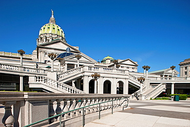 East Wing Entrance State Capitol Building Harrisburg Pennsylvania USA.