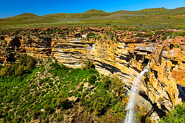 Waterfall, Nieuwoudtville, Namaqualand, Northern Cape province, South Africa, Africa.