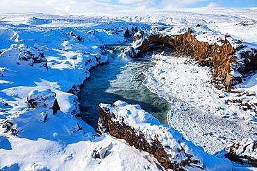 Godafoss, Myvatn, North Iceland, Iceland, Europe.