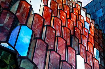 Harpa concert hall and conference centre in Reykjavik, Iceland, Europe.