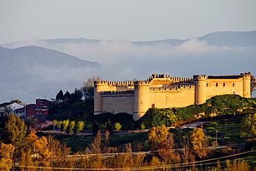 Maqueda Castle, in Roman times, rebuilt 981, by the Umayyad Ibrahim Fathoben, Artistic Historical Monument, Maqueda, Castilla-La Mancha, Spain, europe.