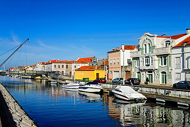 San Roque channel, Aveiro, Beira Litoral, Portugal, Europe.