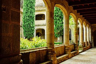 Gothic cloister, XV century, , Monastery of San Jeronimo de Yuste, XV century, region of the Vera, Caceres, Extremadura, Spain, europe.