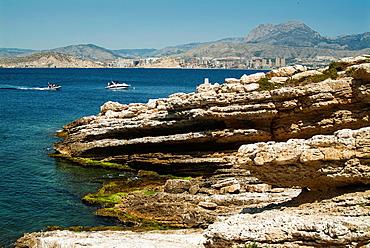 Isla de Benidorm, Alicante, Spain.