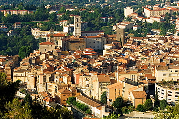 Grasse, over view of Grasse, Church, Village, Village of handmade Perfume, Provence, France.