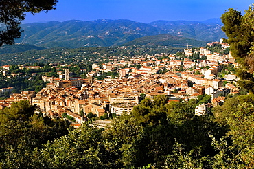 Grasse, over view of Grasse, Village, Village of handmade Perfume, Provence, France.