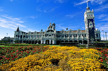 Dunedin, Railway Station, Central Business District, Otago District,  New Zealand.