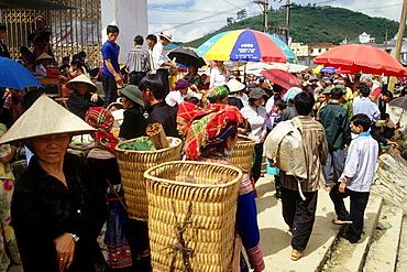 Bac Ha, Northern Vietnam, Mountain Village, Sunday Market, Vietnam.
