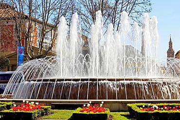fountain in Logrono, La Rioja, Spain.