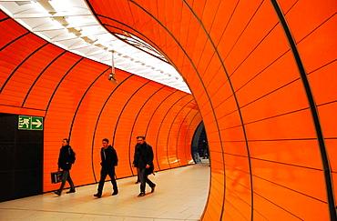 New metro station Marienplatz in Munich