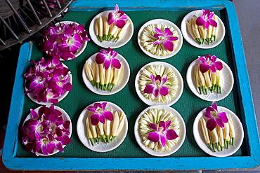 Flowers offerings, Taipei, Taiwan.