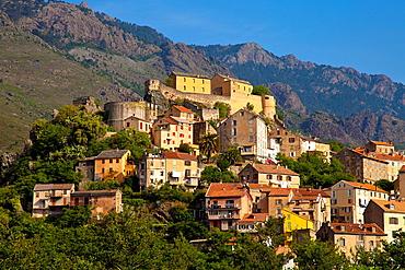 City of Corte, Corsica, France.
