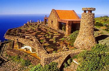 Restaurant designed by Cesar Manrique at El Mirador de la Pena, El Hierro, Canary Island, Spain, Europe.