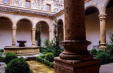 Monastery of Santa Maria del Parral,cloister,Segovia, Castilla-Leon, Spain.