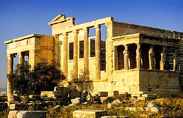 Temple of Erechtheion, Acropolis, Athens, Greece, Europe.