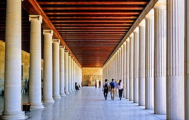 Agora, Stoa of Attalos now houses the museum of Ancient Agora, Athens, Greece, Europe.
