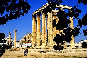 Olympieion,Temple of Olympian Zeus, Athens, Greece, Europe.