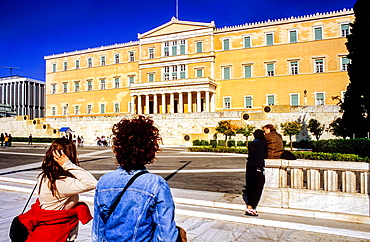 Building of the Parliament, in Syntagma square, Athens, Greece, Europe.
