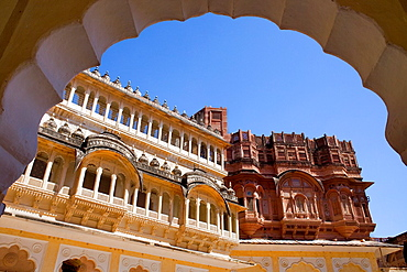 Mehrangarh Fort,inside of the fort,Jodhpur, Rajasthan, India.