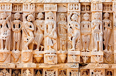 Detail,erotic relief on the exterior wall of the Jagdish Temple,Udaipur, Rajasthan, india.