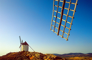 Windmills, Consuegra, province of Toledo,Castilla La Mancha,the route of Don Quixote, Spain.