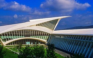 Bilbao airport, by Santiago Calatrava. Bilbao. Vizcaya. Spain.