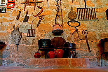 old agricultural objects from a cottage, Florejacs, Catalonia, Spain.