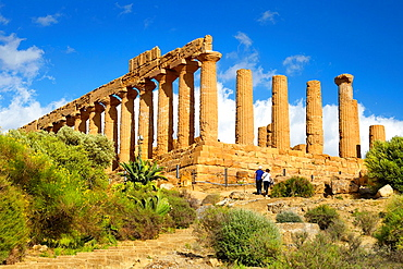Agrigento Valley of Temples (Valle dei Templi), Temple of Hera, Agrigento, Sicily, Italy UNESCO.