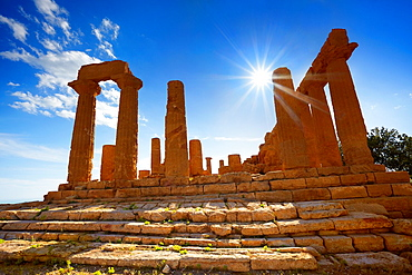 Temple of Hera in Valley of Temples (Valle dei Templi), Agrigento, Sicily, Italy UNESCO.