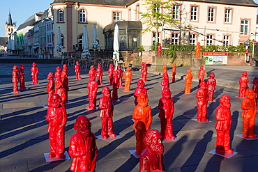 sculptures of Karl Marx, installation by the artist Ottmar Horl, Trier, Germany