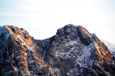 Tatras Mountain of Carpathians with Giewont summit from Zakopane, Poland.