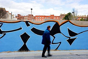 Graffiti. Colegio Episcopal. Almansa. Albacete. Spain.